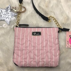 LUV BETSEY LB Double Star Quilted Crossbody Purse